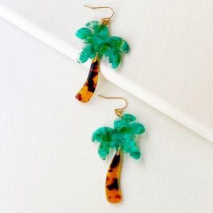 Life's A Beach Palm Tree Earings